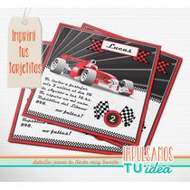 Karting - Invitación Para Imprimir