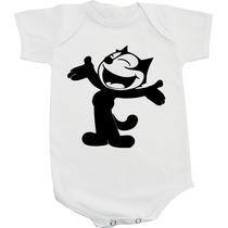 Body Gato Felix - Anos 80 - Infancia - Retrô - Vintage