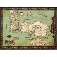 Mapa Westeros E Essos - Game Of Thrones - Gelo E Fogo