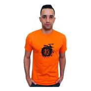 Camiseta  Lobo Skate Laranja C028