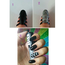 Nail Stencil Adesivo De Vinil Para Unha Nail Stamp