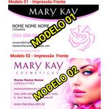 1000 Cartões Visita Mary Kay 7 Modelos A Escolha