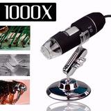 Kit Microscópio Digital Usb 1000x + Mini Lanterna 2x1 Led Uv