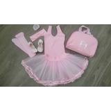Kit Ballet Infantil 7pçs Tou Tou,sapatilhalona,collant,bolsa
