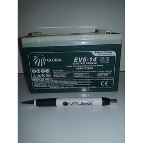 Kit Carregador + 1 Bateria Gel 6v 14ah Moto Elétrica Camaro