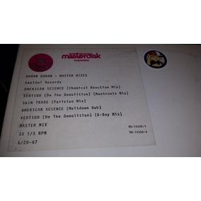 Duran Duran Master Mixes Vinilo Doble Limited Single Side
