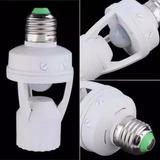Sensor De Presença Com Fotocélula Para Lampada Soquete
