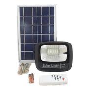 Reflector Led Con Panel Solar Recargable 25w Control Remoto