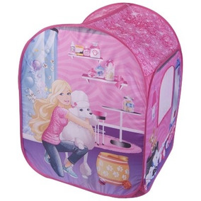 Barraca Casa Toca Infantil Menina Barbie Rosa 50 Bolinhas