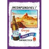 Placa Vintage King Mdf 39x27cm Cerveja Faixa Azul Bc.03204.3