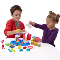 Kit Play Doh Massinha Modelar Playset Fabrica Festa De Bolos