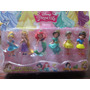 Princesas Disney Bebe Muñecas Set X 6 C/base P/ Tortas