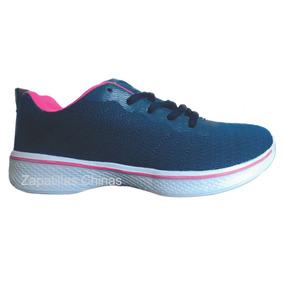 Zapatillas Tipo Skechers Mujer Color Azule