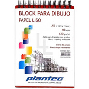Block Para Dibujo Plantec. A5 120gr Liso