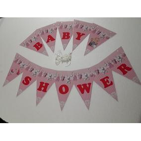 Banderines Feliz Cumple Baby Shower Cominion Bautismo X 5