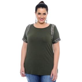 Blusa Malha Viscolycra Tamanho Grande Plus Size