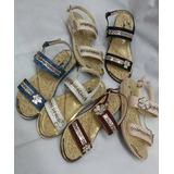 Sandalia Señorial Juvenil Piedreria Murano Zapato Moda Dama