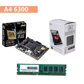 Kit Gamer A4 6300 + Asus A68hm-plus + Memória Ddr3 4gb !