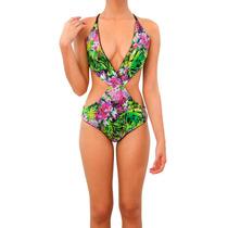 Traje De Baño Trikini Estampado Reversible Mujer Caipirinha