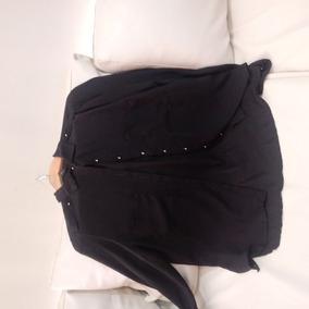 Camisa De Gasa Negra Materia Talle L