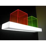 Estante Exhibidor Acrilico Led Flotante Luminoso Ef10-22r
