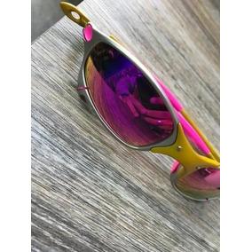 Óculos Oakley Juliet 24k Chrome Lente Ice Plasma Polarizado De Sol ... e89d26ee48