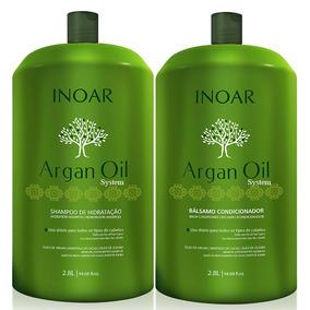 Kit Argan Oil Inoar Salão Shampoo + Condicionador 2,8 Litros