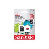 Memoria Micro Sd Microsd 16gb Sandisk Clase10 Por Mayor