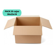 Cajas De Cartón 30x23x10/ Pack 25 Cajas / Cart Paper