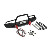 1/10 Front Bumper Bull Bar Con Faros Led Winch Mount Seat Pa