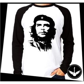 Manga Longa Che Guevara Revolução Vermelho Comunismo Lider 2