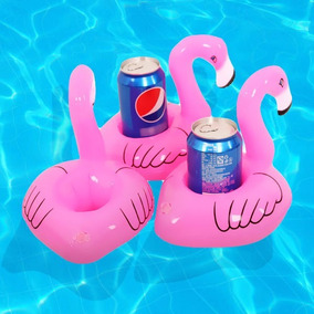 Kit 20 Flamingos Porta Copo Inflável Para Piscina
