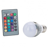 Lampara Led 3w Rgb Control Remoto 16 Colores + Blanco E27