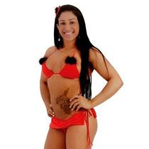 Fantasia Feminina Erótica Sexy Mini Diabinha Completa