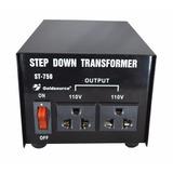 Transformador 220v - 110v 750w Con Llave - Nuevo - Cs