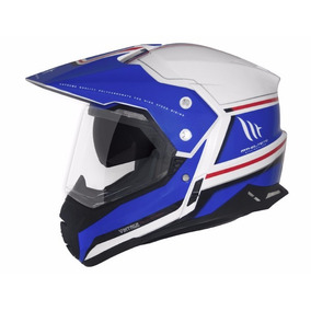 Capacete Mt Sv Duo Sport Cross Vintage White/blue