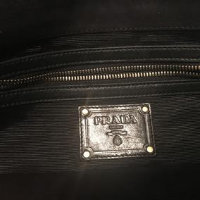 Bolsa Clutch Marca Prada De Encaje Negro