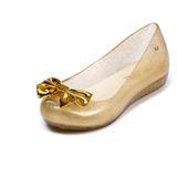 Sapatilha Feminina Sapato Infantil Tipo Melissa Laço Dourado
