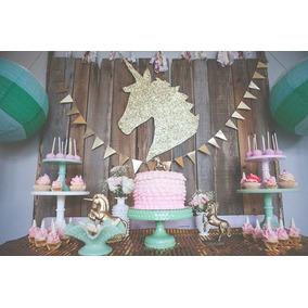Unicornio decoracion cumplea os artesan as en mercado for Decoracion para la pared de unicornio