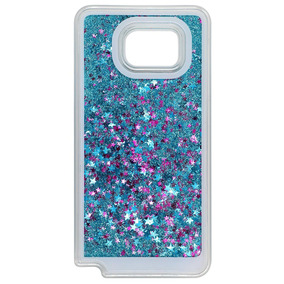 Note 5 Casequicksand Star Liquid Case Samsung Galaxy -azul