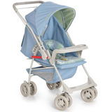 Carrinho De Bebê Galzerano Milano Reversível Ii Azul Real