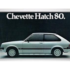 Folder Propaganda Antiga Concessionaria Chevette Hatch 1980