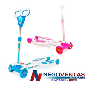 Scooter Monopatin Tijeras De 4 Ruedas Regulable De Lujo