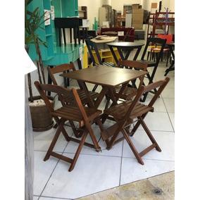 Mesa Dobrável 4 Cadeiras Casa