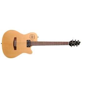 Violao/guitarra Godin Eletrico Ativo Aço Ultra A6 Natural