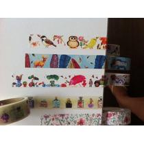 Washi Tape Estampada- Durex Colorido -fita Decotape