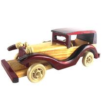 Carro Miniatura Retro Madeira Calhambeque Enfeite Artesanal