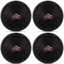 Kit 4 Unidades Woofer Hard Power Hp550 550 Rms Hp 550 2200w