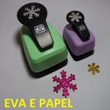 Kit 2 Furadores Eva Scrapbook Floco Neve 5cm + 2,5cm
