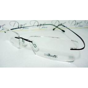 b1e4148bbddf1 Armação Oculos Grau Feita De Titanium Preta Sem Aro A525 - Calçados ...